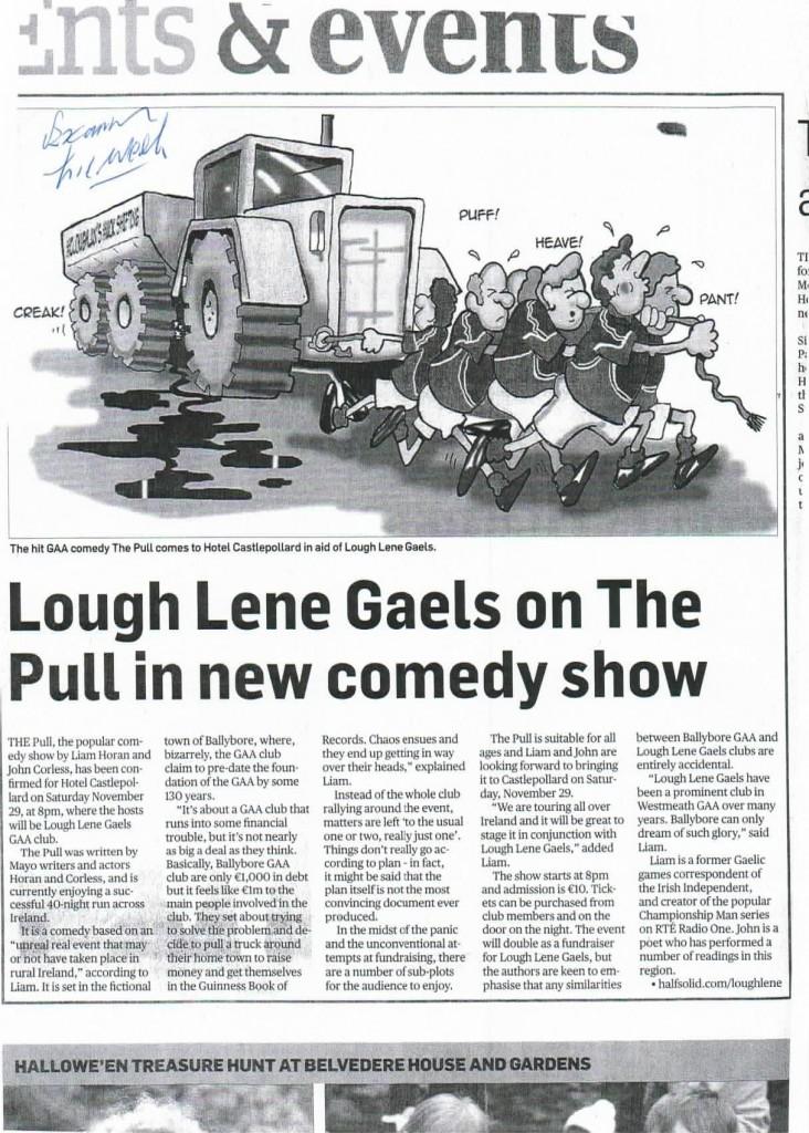 Lough Lene Gaels, Co. Westmeath - show, November 29th, 2014. http://www.halfsolid.com/loughlene/